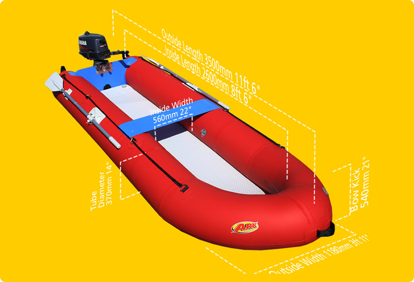 ARK | Fishduc | Inflatable boat | Motorised portable boat